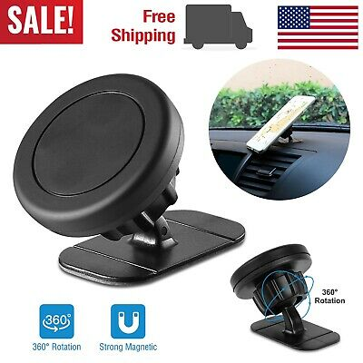 360° Universal Magnetic Stick On Car Dashboard Mount Holder for iPhone Samsung