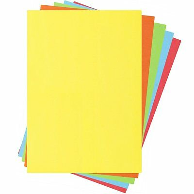 A4 Assorted Coloured Paper (100 Sheets) Art and Crafts Quality Bright Colour