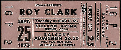 Super Rare Vintage Unused Roy Clark Country Music Ticket Sep 25th 1973