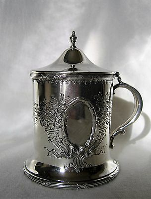 Vintage Sterling Honey Pot w/ Glass Liner & Ladle