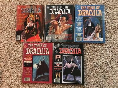 Tomb of Dracula 1 2 3 4 5 Marvel Magazines 5 Issue Lot