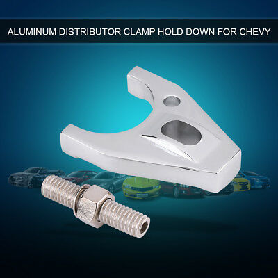Silver Billet Aluminum Distributor Clamp Hold Down for Chevy HEI BBC SB BB LJ
