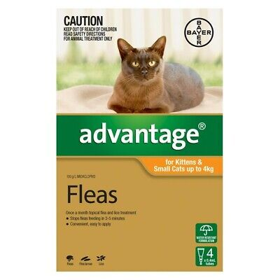 Advantage Flea Treatment for Kittens and Cats Up To 4kg Bayer