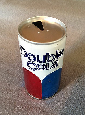 DOUBLE COLA - Vintage Empty 12 oz. Pull Tab Steel Soda Pop Can