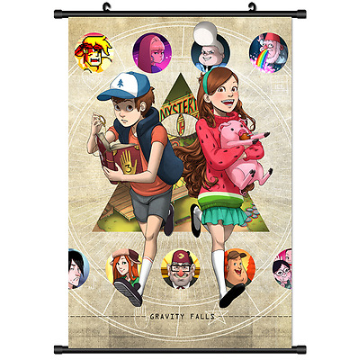 Anime Gravity Falls Poster Wall Scroll Cosplay 2776