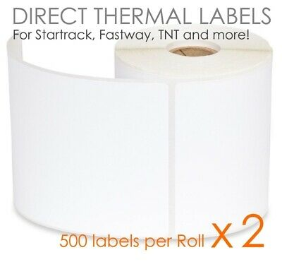2 x 500 100x150mm Direct Thermal Shipping Labels Fastway Startrack eParcel 4x6
