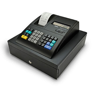 Royal Alpha 210DX Cash Register - 1500 PLUs - 10 Clerks - 24 Departments