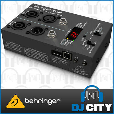 Behringer CT200 Cable Tester Fault Finder Lead Checker - USB / MIDI / Audio