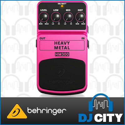 Behringer Heavy Metal HM300 Distortion Electric Guitar Effects Pedal Stompbox