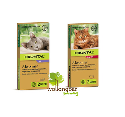 Drontal Allwormer Ellipsoid Tablets for Cats Bayer