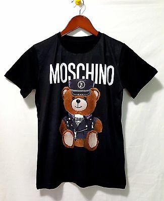 New Short Sleeves Love Bear Print Unisex T-Shirts MOSCHINO COUTURE' Size S M L X