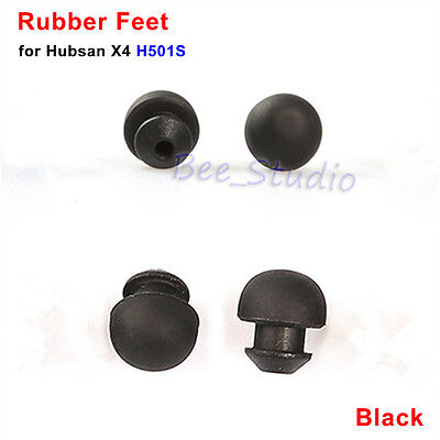 4pcs Black stand Rubber Feet for Hubsan H501S X4 RC Drone Quadcopter Spare Parts