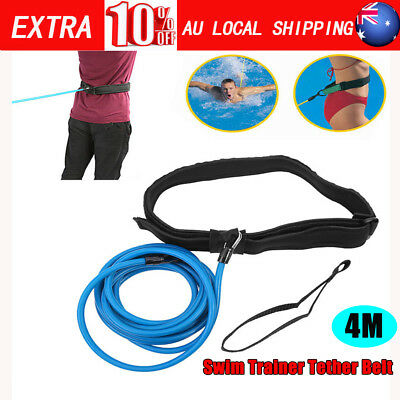 Swim Trainer Tether Belt Resistance Hydrotherapy Pool Trainer Harness AU Stock S