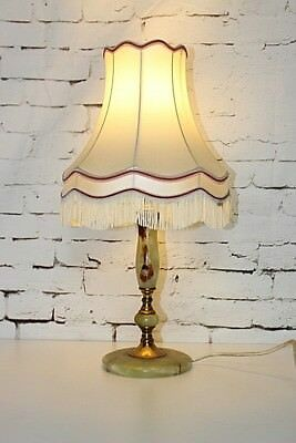 Vintage Retro Green Onyx Table Lamp with Shade - FREE Shipping [PL3677]