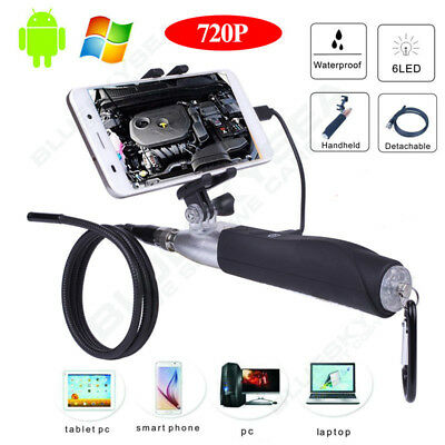 6LED 8mm Waterproof Endoscope Borescope Snake Inspection Camera For Smartphone