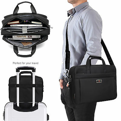 Expandable Large Capacity Business Briefcase Messenger Bags Crossbody for Men US