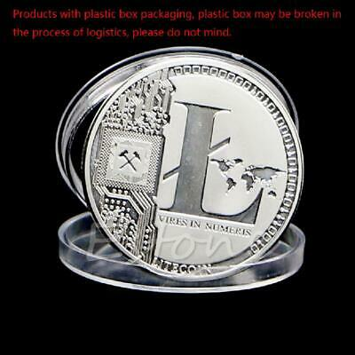 Hot Silver Plated Litecoin Coins Vires in Numeris Commemorative Coin Collection