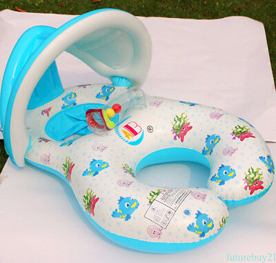 Adjustable Sunshade Baby Kids Float Swim Ring Pool Water Toy with Shade YH