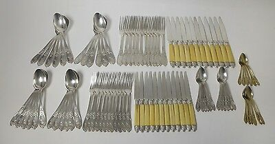 A set of silver cutlery for 12 pers, 96 pcs (knives with bone handles). France.