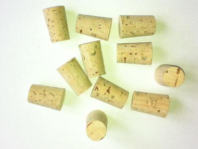 10 off 16mm - 19mm Cork Stoppers Bungs Corks Laboratory Fishing Test Tube