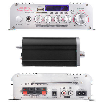 Bluetooth Stereo Amplifier USB FM 200W For iPod iPhone Remote Control AU Post