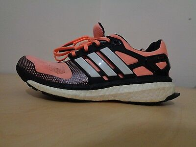 Adidas Energy Boost running shoes size 6.5us mens orange and black