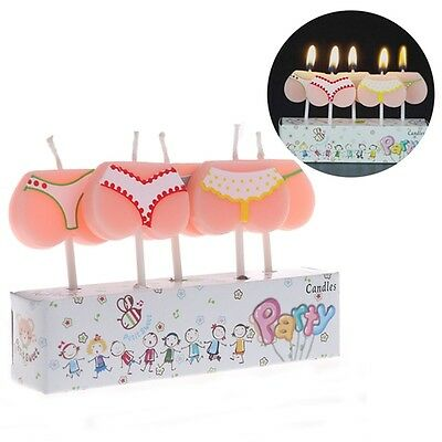 5 x Bum Bottom Thong Knicker Candles