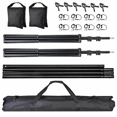 10ft Adjustable Background Support Stand Photo Studio Backdrop Crossbar Set