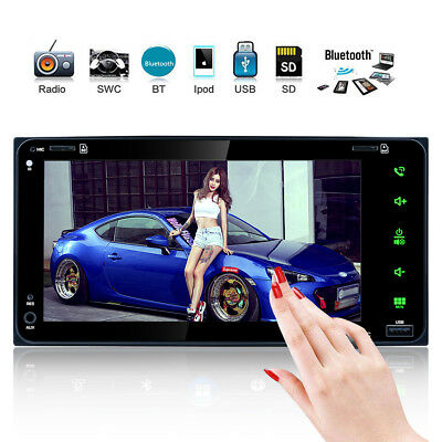 7''HD Bluetooth Doble 2 Din Coche Reproductor DVD MP5 Radio Estéreo FM/AM GPS