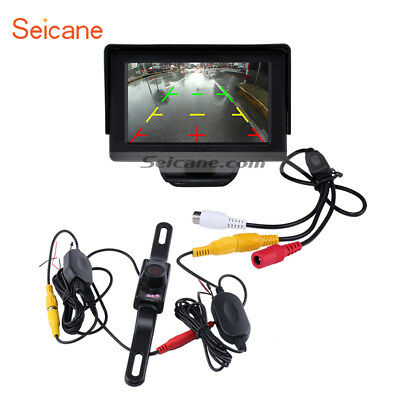 "4.3"" TFT LCD Monitor Display Parking System with Wireless Rearview Backup Camera"