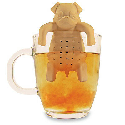 A+ Silicone Tea Coffee Infuser Pug In A Mug Teapot Herbal Spice Strainer Filter
