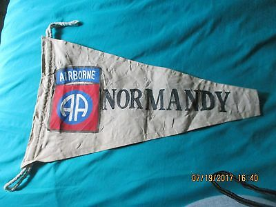 Wwii Us Army 82 Nd Airborne Division D-Day Normandy Campaign  Banner  Flag