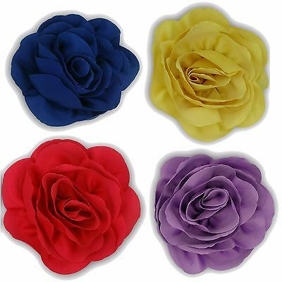 Girls Large Bow Clip Flower Big Hair Grip Accessories Head Pin Side Ponytail New