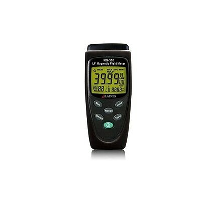 Latnex MG-300 Gauss and Magnetic Field Meter w/ Protection Boot & Black Case