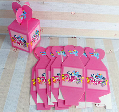 12pcs My little pony Candy Box Kids Birthday Party Supplies Favors Gifts Bag