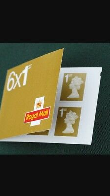 6 x 1rst Class Self Adhesive Stamp Booklet
