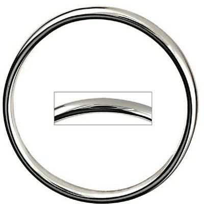 925 Sterling Silver Plain Round Golf Bangle For Babies/children/ladies-All Sizes