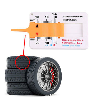 Car Motor Trailer Roda Tire Tread Depth Gauge Measurment Measure Tools