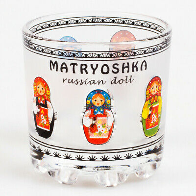 1 pc Russian Traditional Shot Glass 1.7 fl oz 50 ml Vodka Glass w/ Random print