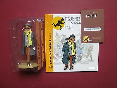 Herge Figurine Tintin La Collection Officielle N°58 Laszlo Carreidas Neuf