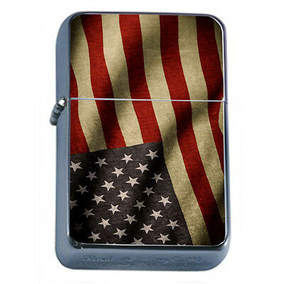 American Flag D11 Windproof Dual Flame Torch Lighter Refillable