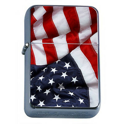 American Flag D13 Windproof Dual Flame Torch Lighter Refillable