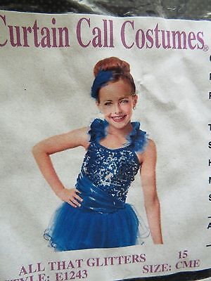 "Girls Curtain Call ""all That Glitters"" Dance Costume Size Childs Med Usa Made"