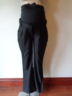 Mamalicious Maternity Smart Black Over Bump Work Trousers Size Xl 14-16 Bnwt £43