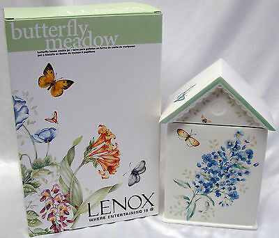 Lenox Butterfly Meadow Blue Limited Edition House Cookie Jar NEW IN BOX