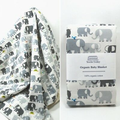 Baby Newborn Infant Pure Cotton Soft Blanket Wrap Towel Cute Elephant Pattern