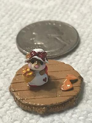 Wee Forest Folk Miss Mouse with Bow Hat FTF 2015 One-of-a-Kind Accessory
