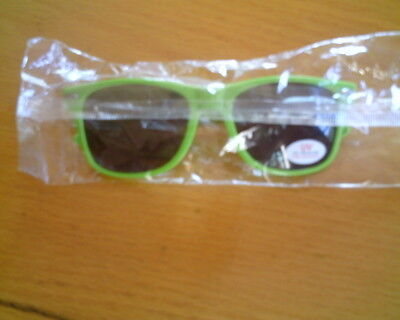 One Green Pair New BUBBA Burgers Hard Plastic Sunglasses UV Eye Protection