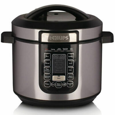 Philips HD2137 6L Electric Digital Automatic Non-stick Fast/Slow Pressure Cooker