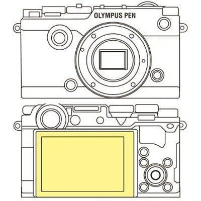 Martin Screen Protectors Fields Overlay Plus Screen Protector (Olympus PEN-F)